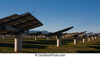 solar farm - solar panels in Almeria Spain