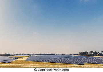 Solar Farm - Aerial Shot of a Solar Farm