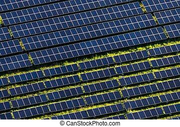 Solar farm - The solar power plant near Ceska Kamenice in...