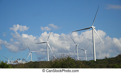 Solar Farm with Windmills. Philippines, Luzon - Windmills...