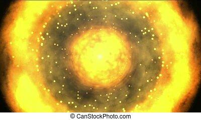 solar & fireball,galaxy and cluster