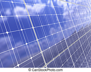 solar, fundo, painel