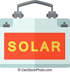 Solar generation icon, flat style