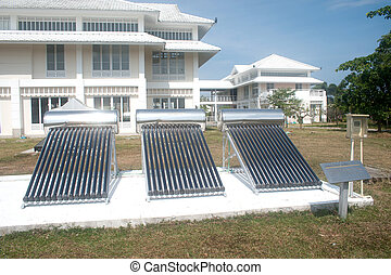 Solar glass for hot water systems.