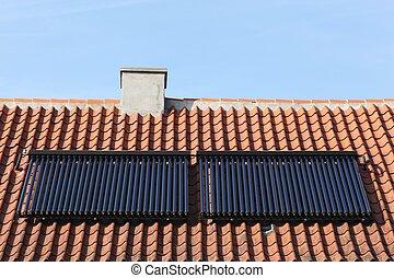 Solar glass tube hot water panel
