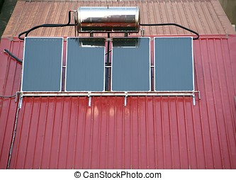 Solar Heater System - Solar powered water heating system...