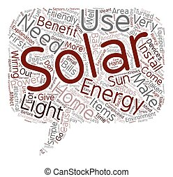 solar home energy text background wordcloud concept