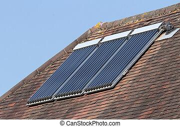 Solar hot water glass tube panels