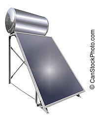 Solar hot water heater, isolated