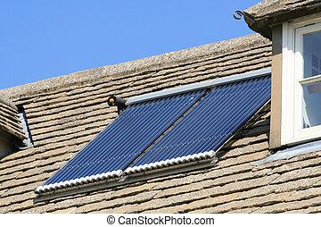 Solar hot water panel array