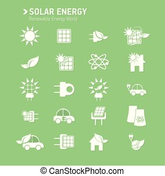 Solar icon vector set