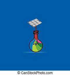 solar idea with bulb