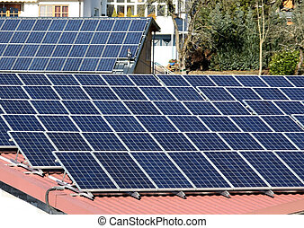 Solar installation on roofs