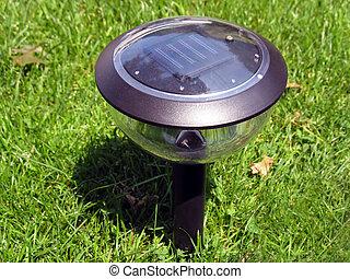 solar lamp - a solar-powered garden lamp