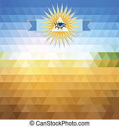 solar landscape triangle background