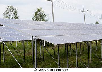 solar, painéis, energia