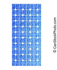 Solar Panel - 3D rendered Illustration. A single solar panel...