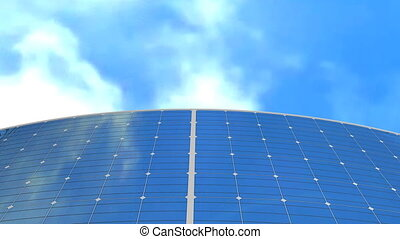 """Solar panel and sky background, concept animation"""