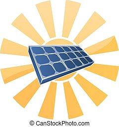 Solar Panel and Sun Concept