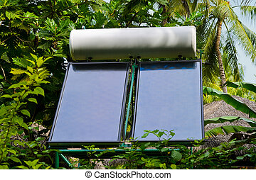 Solar panel and trees