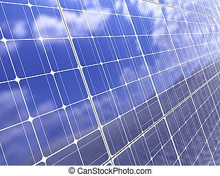 solar panel background