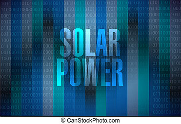 solar panel binary background sign concept