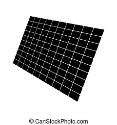 Solar panel it is black color icon .