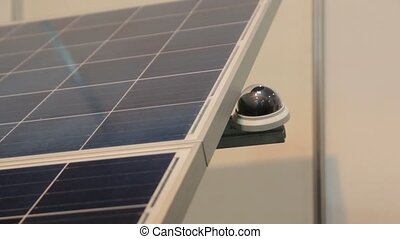 Solar Panel Closeup Tracking - Solar panel energy tracking...