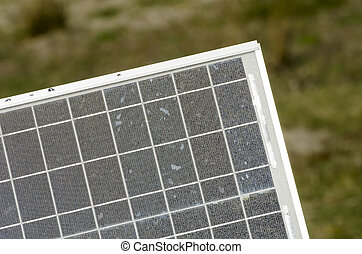 Solar Panel detail - Solar Panel for power generation in a...