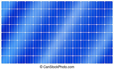 Solar panel - Detailed illustration of blue silicon...