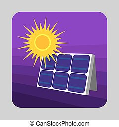 Solar panel energy concept background, cartoon style - Solar...