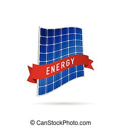 solar panel energy illustration