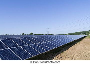 Solar panel farm renewable energy generation