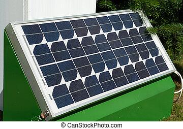 Solar panel for green, environmentally friendly energy