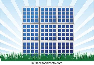 Solar panel illustration background design