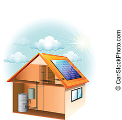 Solar Panel - Illustration showing the solar panel