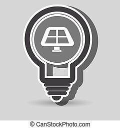 solar panel isolated icon design