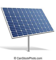 Solar panel isolated on white background vector illustration.