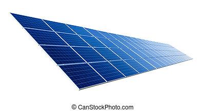 Solar panel isolated on white