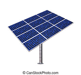 Solar Panel Isolated - Solar Panel isolated on white...