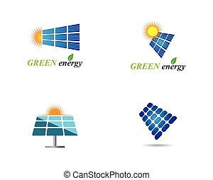 Solar panel logo illustration