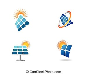 Solar panel logo illustration