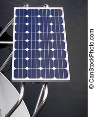 Solar panel of a boat