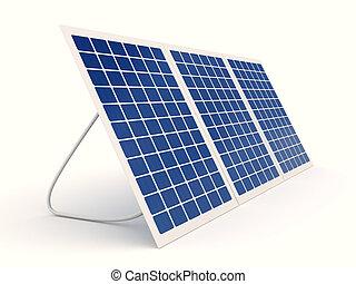Solar panel over white