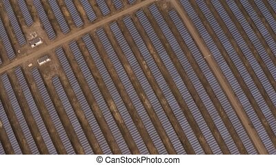 Solar panel park power plant - Solar panels in a large ...