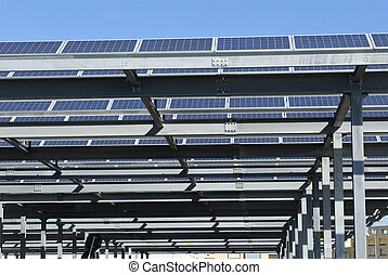solar panel parking cover