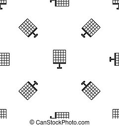 Solar panel pattern seamless black