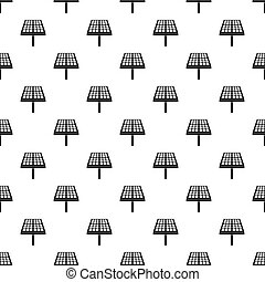 Solar panel pattern, simple style