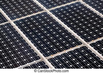 Solar panel photoelectric cells