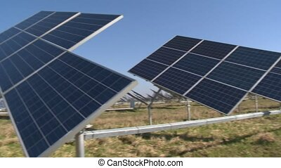 Solar panel plantation. Alternative clean energy generation...